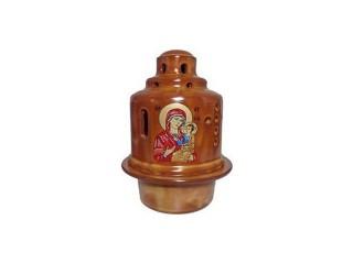 "Glossy Ceramic Vigil Oil Lamp ""Byzantine"""