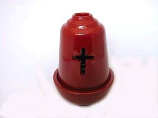 Ceramic Vigil Oil Lamp Arc-shaped