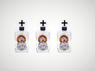 Bottle for Holy Water, Glass - medium